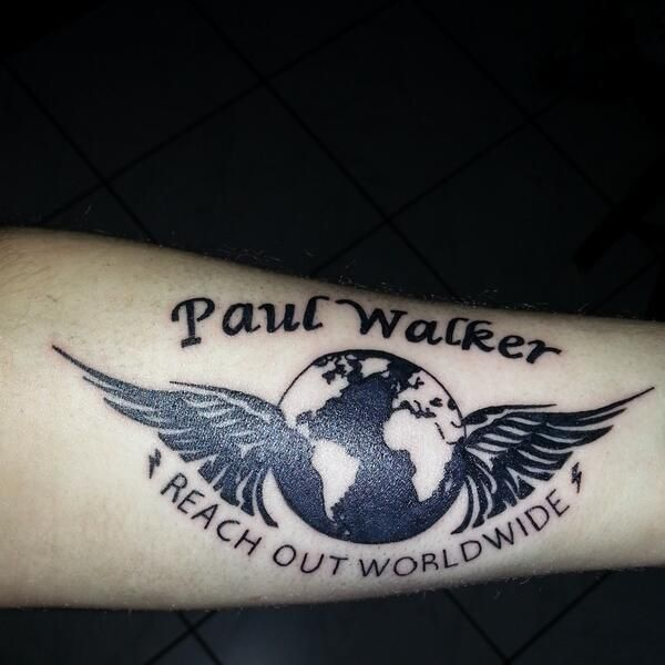 Paul Walker Tattoo, thats awesome!!