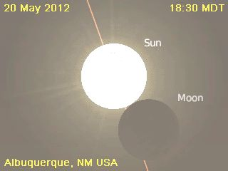Annular solar eclipse coming May 20th. Starts at 5pm on the east coast.