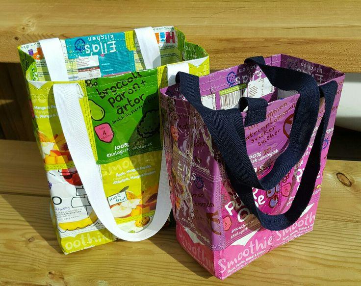 Små väskor av klämmisförpackningar