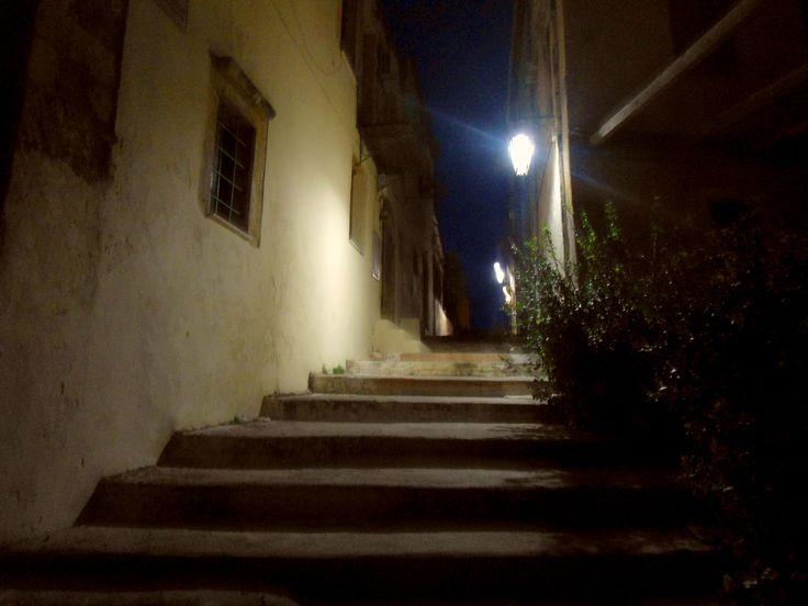 walking through narrow streets