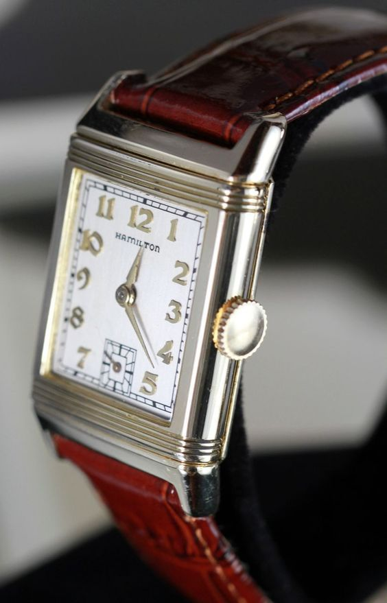 1938 Hamilton Otis Reversible Vintage Men's Watch from Vintage Watches on Ruby Lane