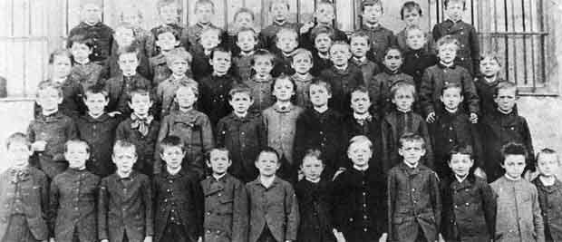 Albert Einstein Luitpold Gymnasium de Munich en 1889.