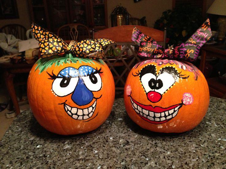 41 best painted pumpkins images on pinterest halloween prop painted gourds and halloween diy. Black Bedroom Furniture Sets. Home Design Ideas