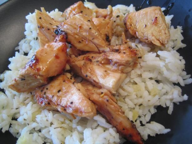 Sticky Coconut Chicken With Chili Glaze and Coconut Rice. Photo by pattikay in L.A.: Asian Recipe, Food Com, Rice Recipes, Thai Style, Dinners, Coconut Rice, Chilis Glaze, Sticky Coconut, Coconut Chicken