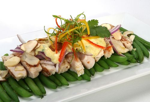 Curried Chicken, Green Bean, and Almond Salad #recipes #chicken #greenbeans @Florida Agriculture @The Food Channel .com