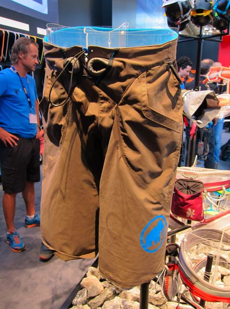 Mammut Realization climbing shorts. Not quite available yet (as of May 2012). I wonder how many of these I'll see around the local crags.