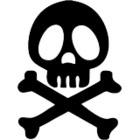 Stickers Dessin Anime Albator tete de Mort