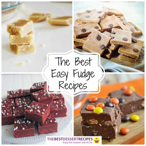 """So many fudge recipes, so little time! """"The Best Easy Fudge Recipes: 28 Homemade Fudge Recipes"""" is your source for easy desserts for all occasions!"""