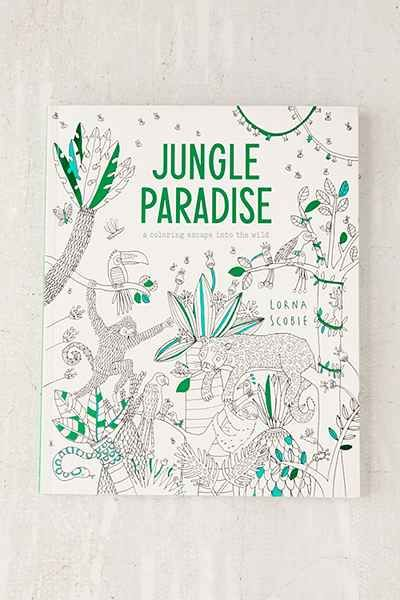 Jungle Paradise A Coloring Escape Into The Wild By Lorna Scobie