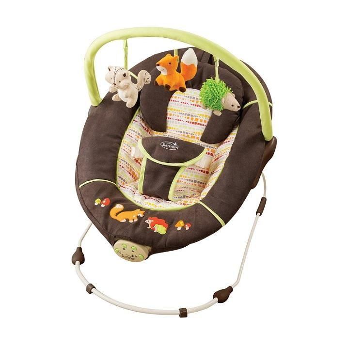 Moms loved the swings and bouncers that soothed and entertained fussy babies without taking up too much floor space.