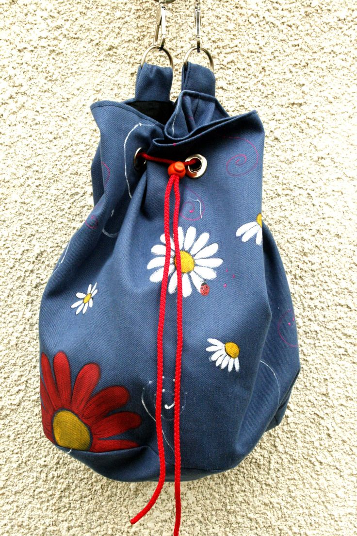 Blue Daisy Bag by AtelierGOBI on Etsy