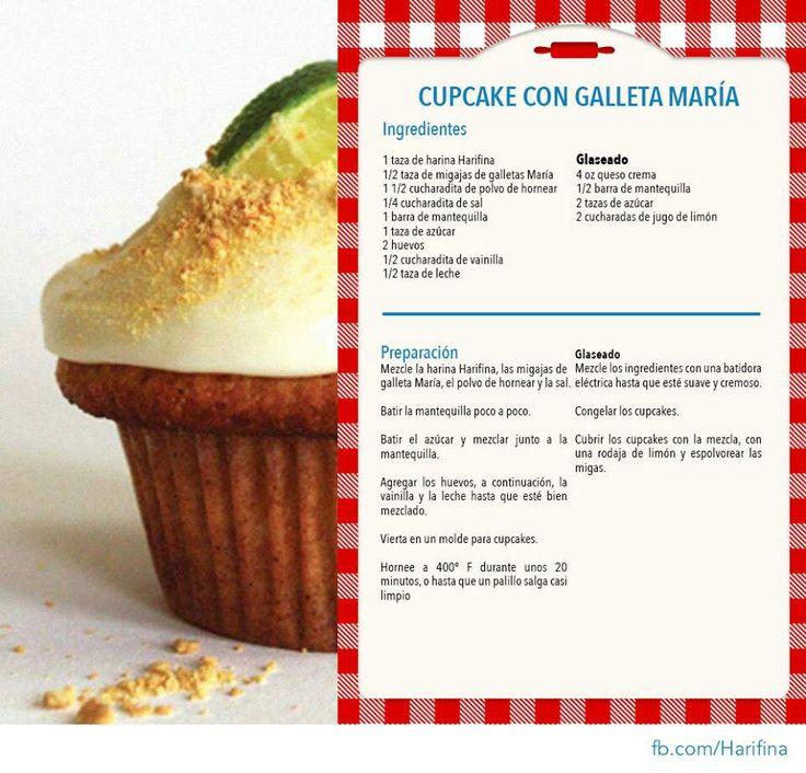 Cupcakes con galleta Maria