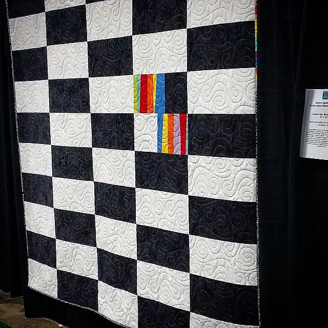 'Loosen up, Bookkeeper,' at #Quiltfest NJ! #quilting #modern #art