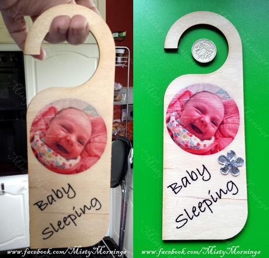 Wooden door hanger photos and wording of your choice www.facebook.com/PicMeThat