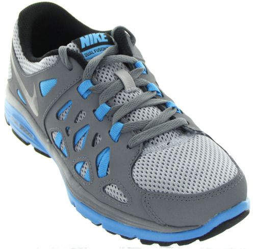 Youth Nike Dual Fusion Run 2 in Wolf Grey by Nike
