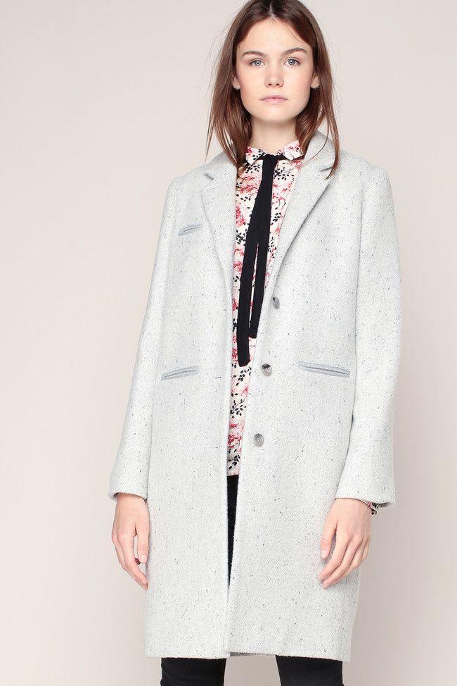 Manteau perle chiné Pavette - Swildens