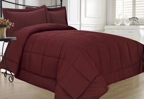 Super Soft Goose Down Alternative -- BURGUNDY -- Comforter- All Sizes... - http://bestdowncomfortersonsale.com/super-soft-goose-down-alternative-burgundy-comforter-all-sizes/