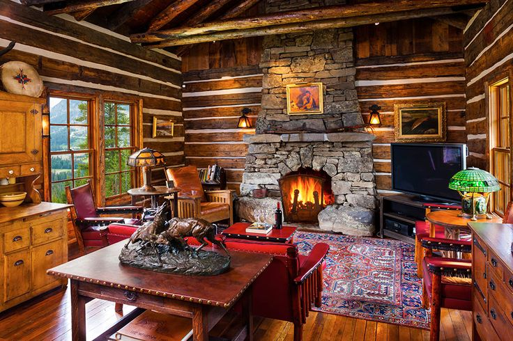 17 Best Images About Cabin Interiors On Pinterest Montana Log Homes And Vacation Rentals