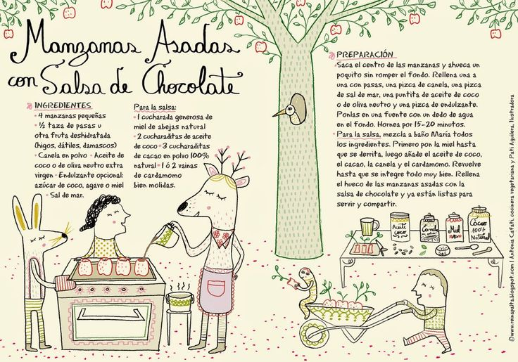 Reina Palta: Manzanas Asadas con Salsa de Chocolate