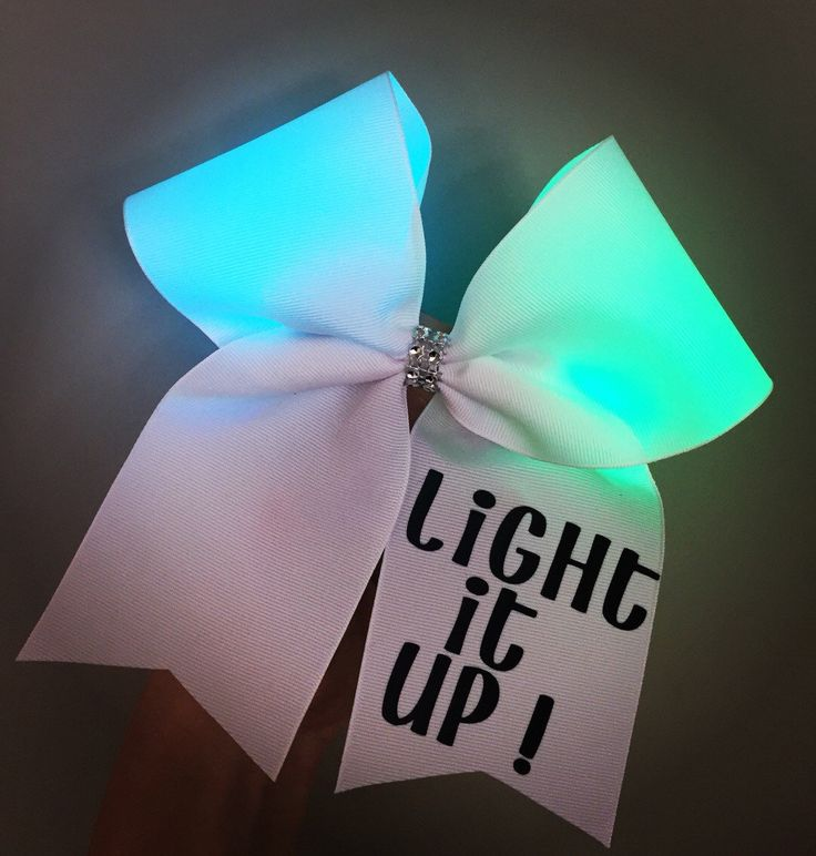 Color changing Light Up Cheer Bow  by TalkToTheBow on Etsy https://www.etsy.com/listing/224210513/color-changing-light-up-cheer-bow