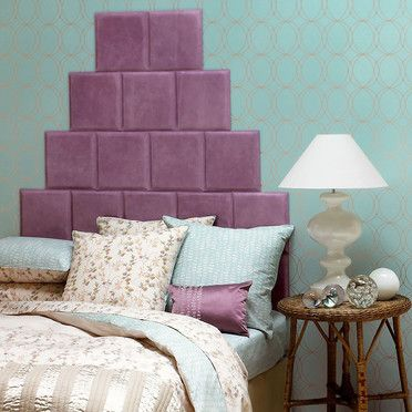 Should fame padded squares around my tin ceiling tiles for a headboard!