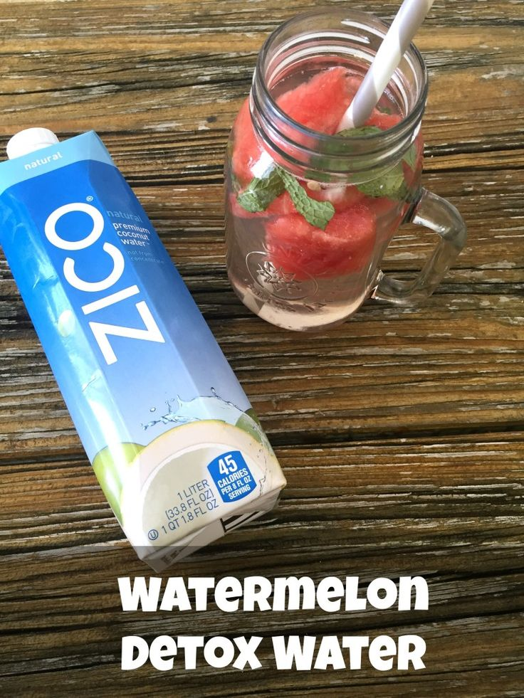 Flush toxins and fat from your body when you drink this refreshing Watermelon Detox Water made with coconut water, fresh watermelon, and mint.