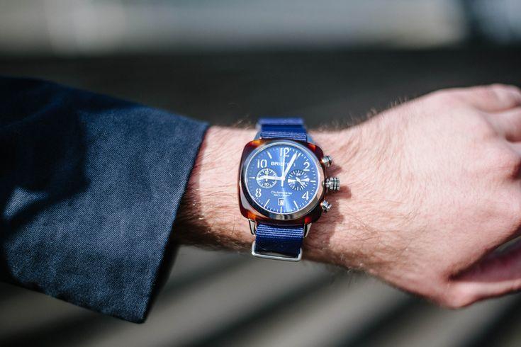 Montre Briston Clubmaster cadran bleu soleillé #mode #look #style #streetstyle #jimmy #commeuncamion #montre #briston #watches #fashion #mensfashion #fashionformen