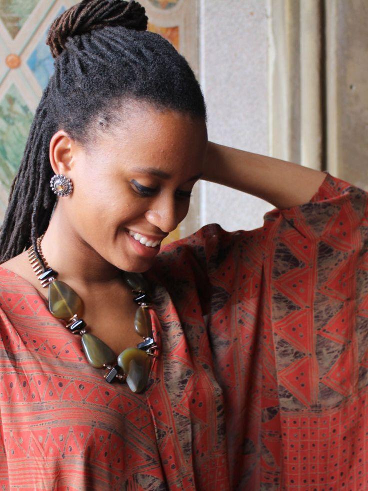 Zambian Dusk Necklace by NecklacesByAmma on Etsy