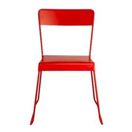 Chaise en métal Filao rouge