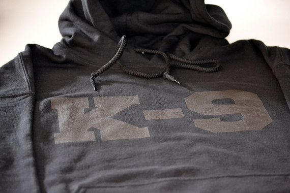 K9 K9 dog handler police and military hoodie by gorillatactical, $29.99