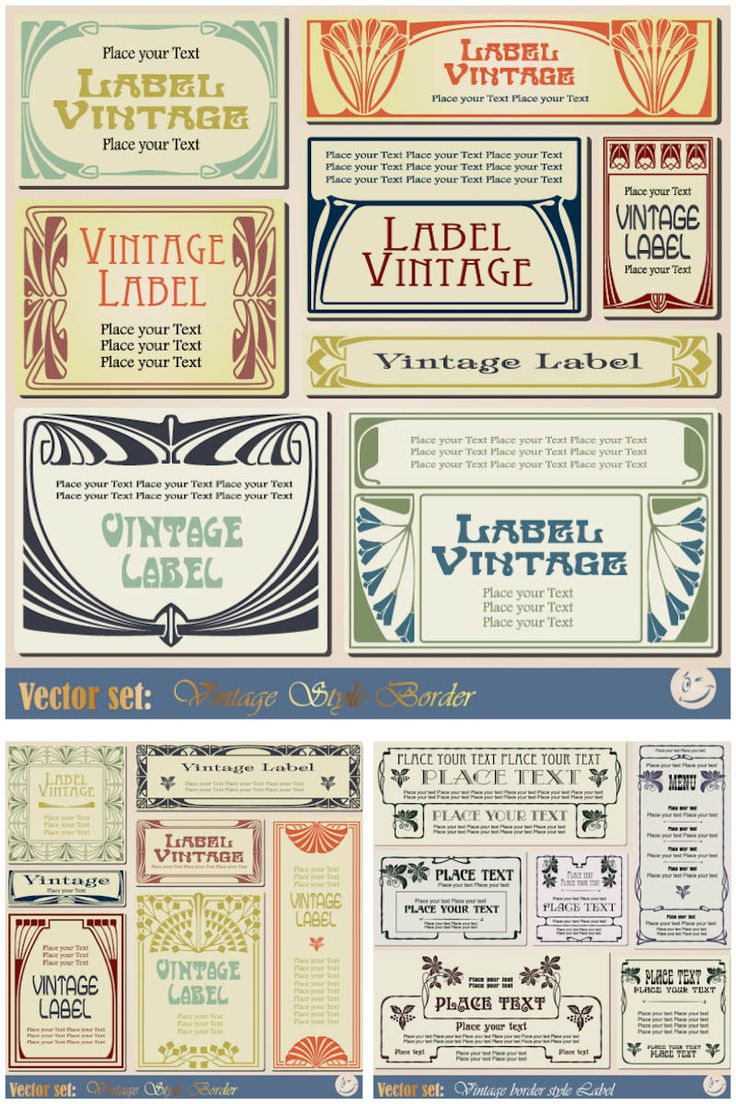 Price tag template free printable blank price tag template free - Vintage Label Templates Vector Set 2 Vector Graphics Blog
