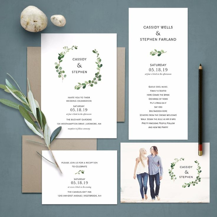 diamond wedding invitations%0A Bohemian Wedding Invitations Greenery Eucalyptus Wreath  This absolutely  stunning boho chic wedding invitation features modern