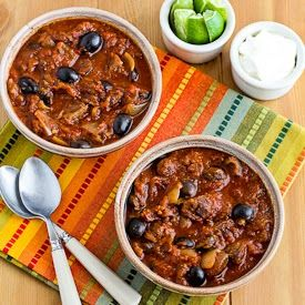 Slow Cooker Southwestern Beef Stew Recipe with Tomatoes, Olives, and Chiles [from Kalyn's Kitchen]