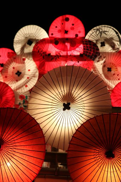 Bamboo light, Lantern Festival at Yamaga city, Kumamoto, Japan