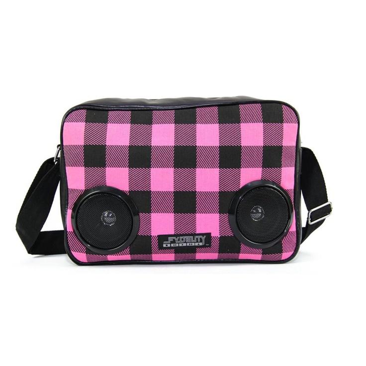 Plaid Boombox Shoulder Bag