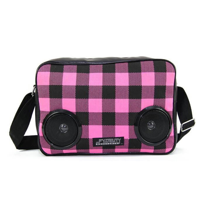 Plaid Boombox Shoulder Bag