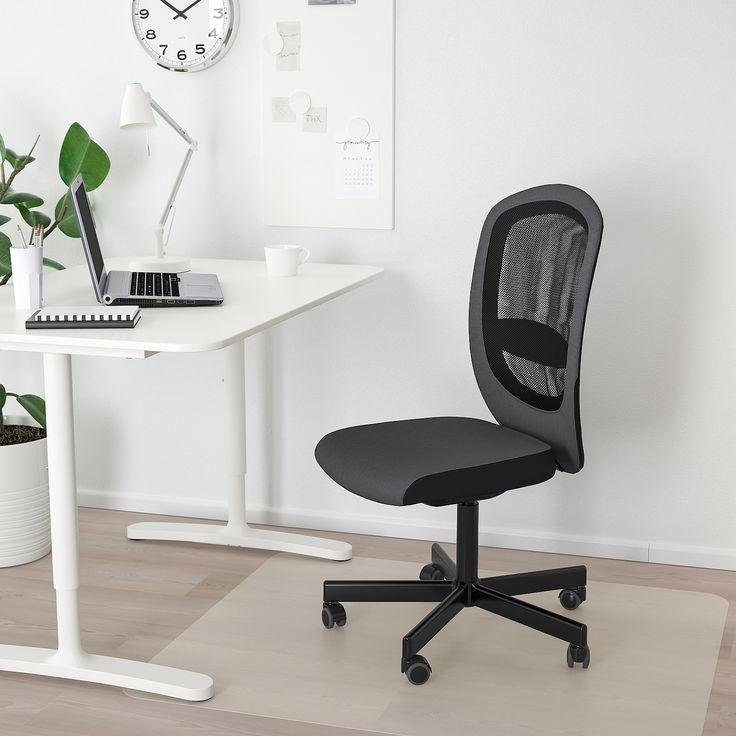 FLINTAN Silla de trabajo Vissle gris   Ikea office chair