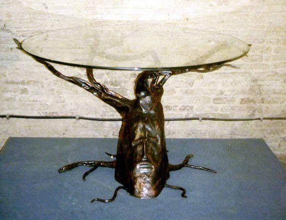 Tavolo scultura  Barbalbero in ferro di artisticwroughtiron, €600.00