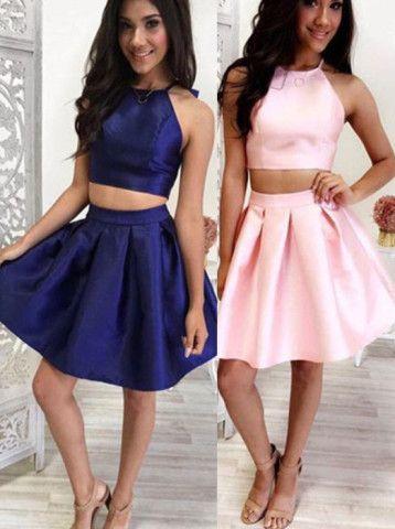 short homecoming dresses, 2016 homecoming dresses, pink homecoming dresses…