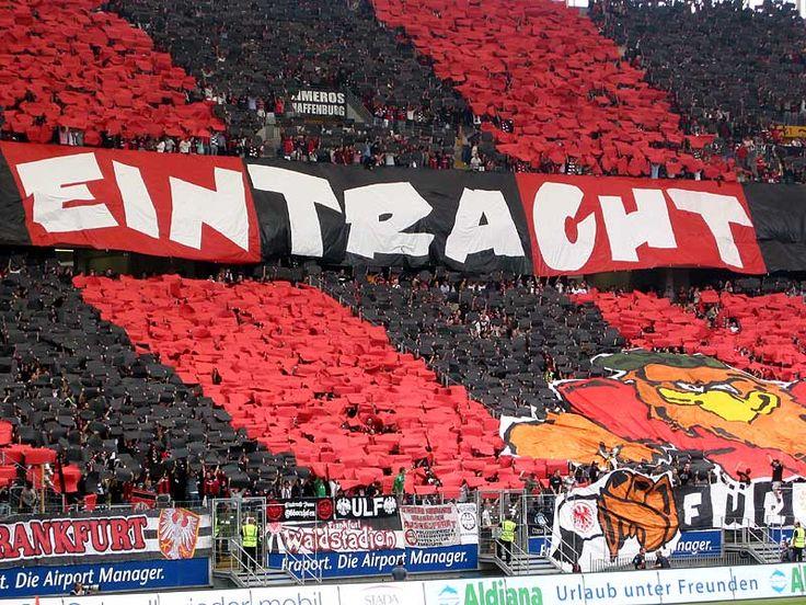 Eintracht Frankfurt Choreo der Ultras (Nordwestkurve) #Eintracht #SGE #BUNDESLIGA