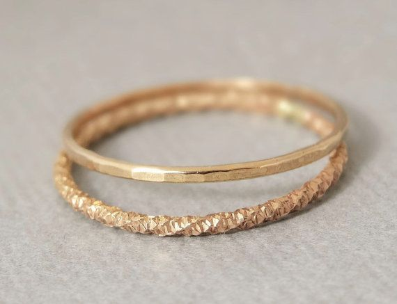 Gold Thumb Ring x2 Delicate thin gold thumb ring Super Thin Stackable Midi Rings - Knuckle Ring on Etsy, $19.94 AUD