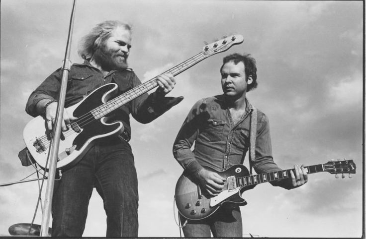A young Dusty Hill and Billy Gibbons of ZZ Top playing a live show. Description from selvedgeyard.com. I searched for this on bing.com/images