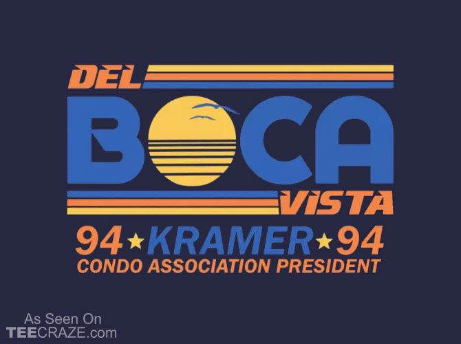 Del Boca Vista 94 T-Shirt - http://teecraze.com/del-boca-vista-94-t-shirt/ -  From Funny On Shirts    #tshirt #tee #art #fashion #TCRZ #clothing #apparel #Seinfeld