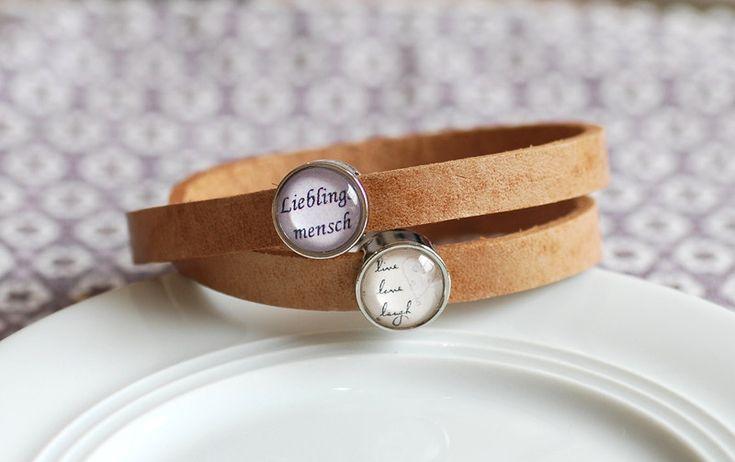 Wickelarmbänder - Armband Lieblingsmensch - ein Designerstück von creasternchen bei DaWanda