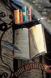 Enseigne de bibliothèque Malestroit