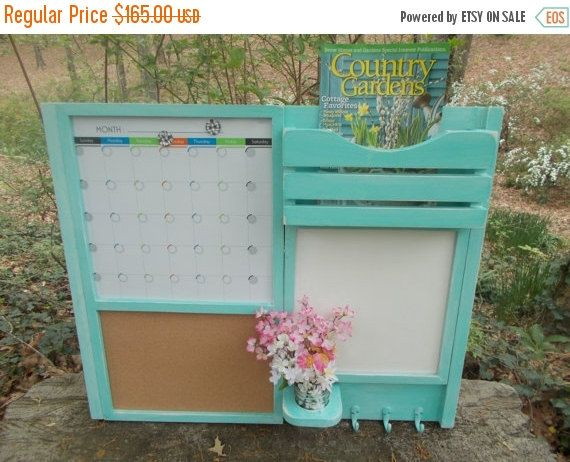 ON SALE All In One Command Center/Kitchen organizer/ Magnetic Calendar/ Message Center /Office Decor /Magazine Holder/Family Message Board