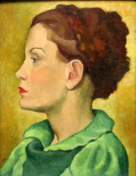 """""""Madeleine,"""" Edwin Holgate, 1937, oil on panel, 16 x 12.3/8"""", private collection."""
