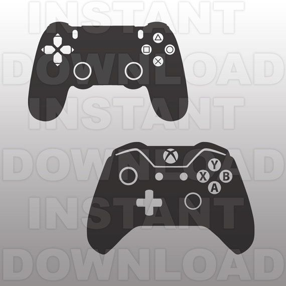 Video Game Controllers SVG File Cutting Template-XBox by sammo