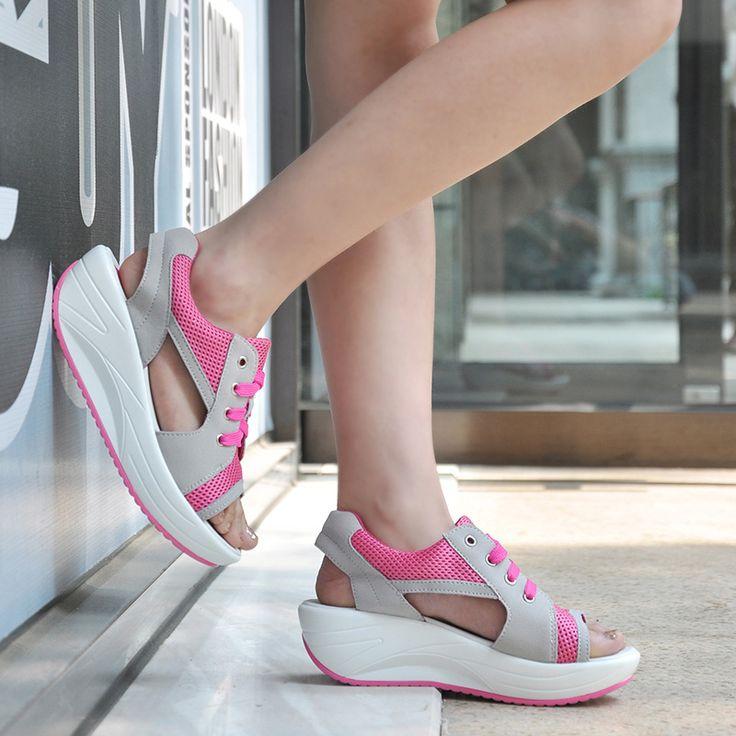 $16.86 (Buy here: https://alitems.com/g/1e8d114494ebda23ff8b16525dc3e8/?i=5&ulp=https%3A%2F%2Fwww.aliexpress.com%2Fitem%2FWomen-sandals-wedges-shoes-for-women-2016-hot-new-breathable-mesh-Fish-head-shoes-woman-sandals%2F32644197202.html ) Women sandals wedges shoes for women 2016 hot new breathable mesh Fish head shoes woman sandals for just $16.86