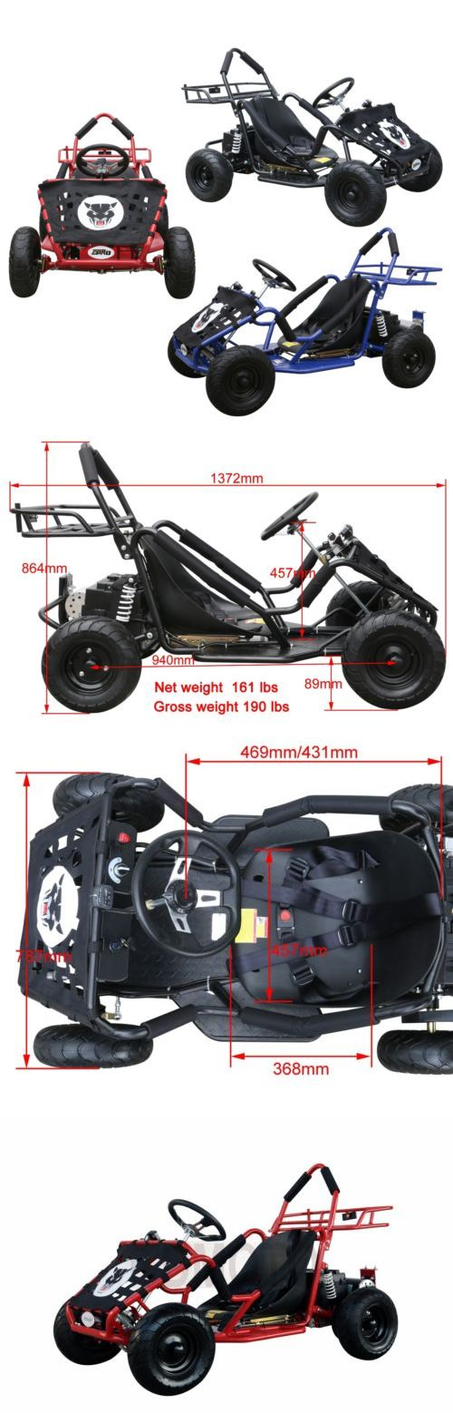 Complete Go-Karts and Frames 64656: Tdpro Black Red Blue Kids Electric Go Kart 48V 1000W 3 Speed Tdpro -> BUY IT NOW ONLY: $549.99 on eBay!